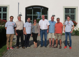 Mit meinem Team und den Teilnehmern des Ortsrundgangs