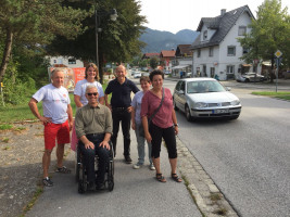 Meine Gruppe mit dem 1. Bürgermeister Hajo Gruber