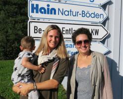 Mit Susanne Hain von der Firma Hain Parkett